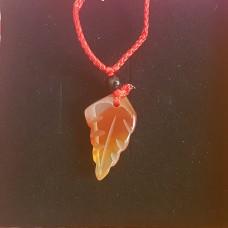 Амулет лист Арура из сердолика