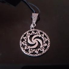 Символ Рода в солнечном круге/серебрение