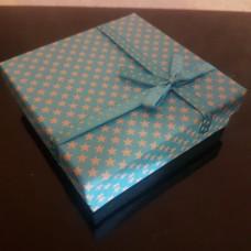 """Подарочная коробочка """"Звездочка""""/голубая"""