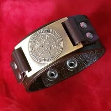 Кожаный браслет Печать архангела на защиту