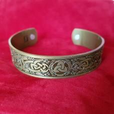 Браслет с магнитами Skyrim Viking кельтский ирландский тройной узел коготь дракона