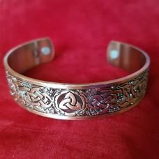 Браслет медный с магнитами Skyrim Viking кельтский ирландский тройной узел коготь дракона