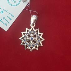 Звезда Эрцгамма двухсторонняя в фианитах /серебро 925пр