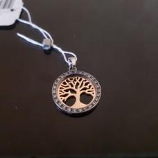 Дерево жизни/серебро 925пр, позолота