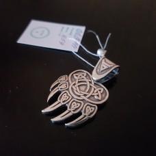 Медвежья лапа Велеса с печатью Велеса/ серебро 925пр