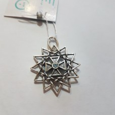 Звезда Эрцгаммы двухсторонняя с топазами