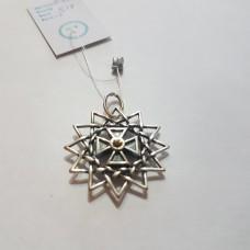 Звезда Эрцгаммы двухсторонняя с цитринами/серебро 925пр