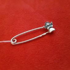 Серебряная булавка от сглаза Ангел /925пр