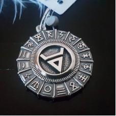 Велес в славянском зодиакальном круге /серебро 925 пробы