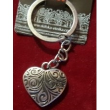 Брелок Сердце малое/серебрение