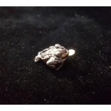 Жабка трехлапая с монетой/серебрение