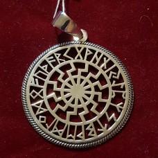Черное солнце в руническом круге  (6гр)/серебро 925пр