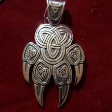Лапа бьерна с печатью велеса/серебро 925пр