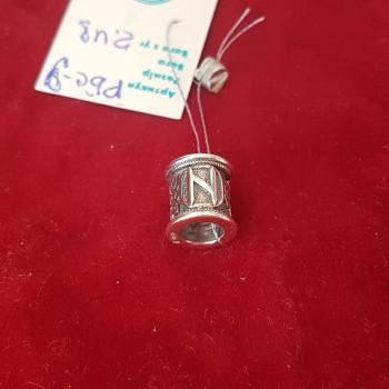 Руна Хагалаз бусина/серебро 925пр