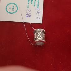 Руна Гебо бусина/серебро 925пр