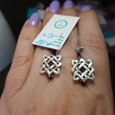 Серьги Звезда Лады /серебро 925пр