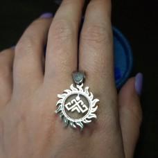 Рожаница в солнышке со звездой Лады /серебро 925
