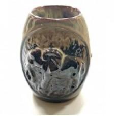 Аромалампа керамическая Слон кофейная
