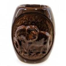 Аромалампа керамическая Слон кофе с молоком