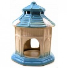 Аромалампа керамическая Домик синяя