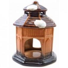 Аромалампа керамическая Домик коричневая