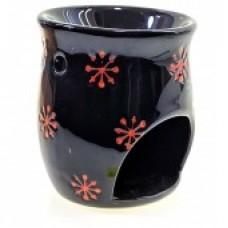 Аромалампа керамическая черная