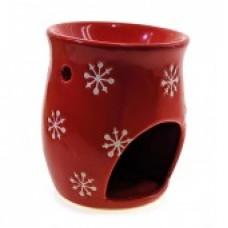 Аромалампа керамическая красная