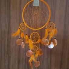 Ловец снов с ракушками/мандарин