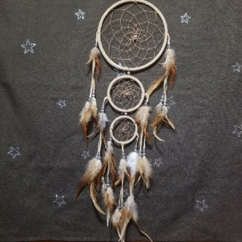Ловец снов три кольца кремовый