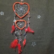 Ловец снов два сердца красный
