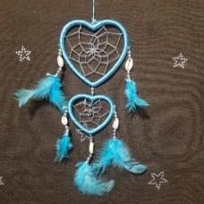 """Ловец снов сердца голубой """"Ракушка"""""""