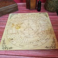 Деревянная таблица для работы с маятником