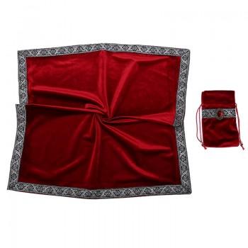 Скатерть и мешочек из бархата/красный