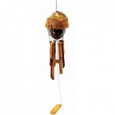 Музыка ветра бамбуковая + кокос Домик