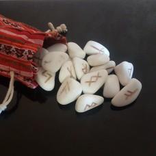 Руны из белого мрамора