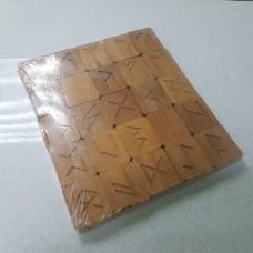 Руны из дерева резные(ольха)/XL