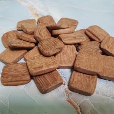 Заготовки для рун из красного дерева