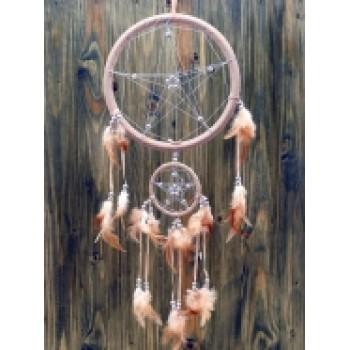 Ловец снов пентаграмма кремовый