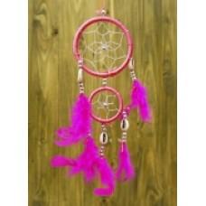 Ловец снов розовый два кольца