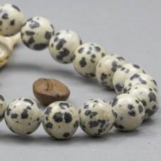 Браслет из яшмы далматиновой (бусины 10 мм)