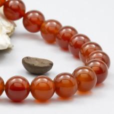 Браслет из сердолика (бусины 10 мм)