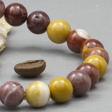 Браслет из камня Яшма мукаит (бусины 10мм)