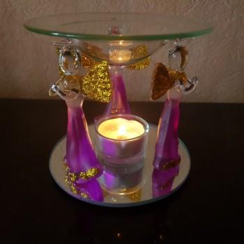 Аромалампа-подсвечник стеклянный с ангелами
