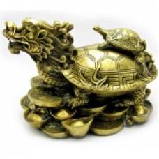 Черепаха на драконе /бронза