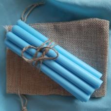 Свечи из натурального воска/голубые