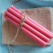 Свечи из натурального воска / розовые