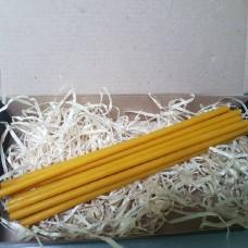 Свечи тонкие восковые - жёлтые