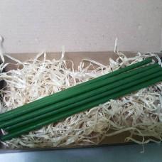 Свечи тонкие восковые - зелёные