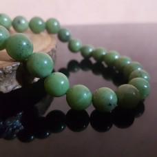 Браслет из нефрита уральского /натуральный камень