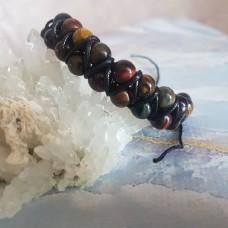 Браслет трехглазье из натуральных камней/плетение